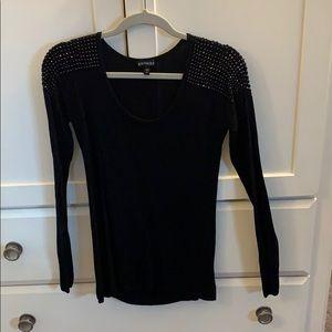 Bling shoulder sweater